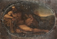 hercules resting by francesco albani