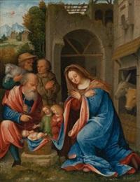 the adoration of the shepherds by giovanni agostino da lodi