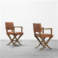 armchairs (pair) by maurice lafaille