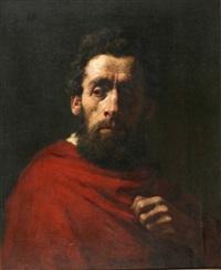 portrait of a man by moritz gottlieb