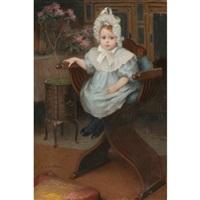 portrait d'enfant assis by etienne azambre