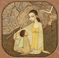 mother and child by cheong soo pieng