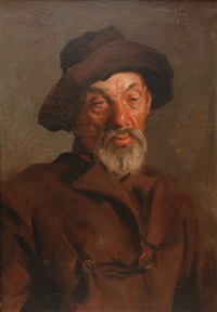 old man wearing a coat and hat by jossey bilan