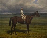 portrait de cheval et son jockey by wachrenow
