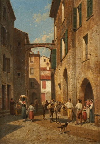 vieille rue à la turbie by jacques françois carabain