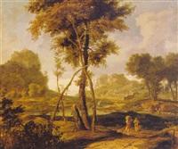 arcadian landscape by johannes gottlieb glauber