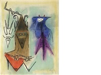 pleni luna (portfolio of 10 w/title pg., justif., text and intro by ragnar von holten) by wifredo lam