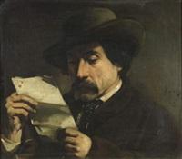 portrait de théophile sylvestre (journaliste critique d'art) by philippe auguste jeanron