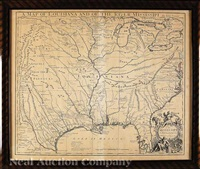 a map of louisiana and the river mississippi by john senex