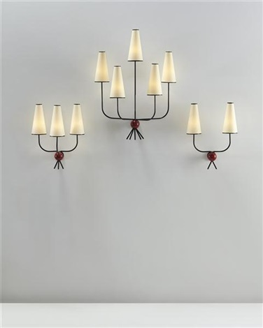 hirondelle wall lights set of 3 by jean royère