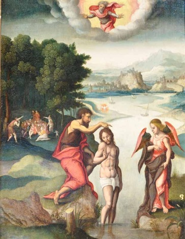 le baptême du christ by flemish school 16