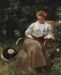 portrait of the wife of the artist agathe sluiter-van nievervaart by willy sluijter