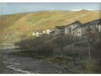 a mountain village by nicolaes van der waay