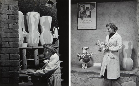 picassos kiln and picassos ceramic assistant 2 works by philippe halsman