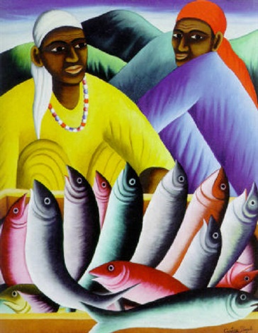 fish seller by castera bazile