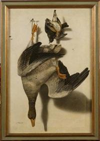 trophée de chasse à l'oie et aux oiseaux by jacobus biltius