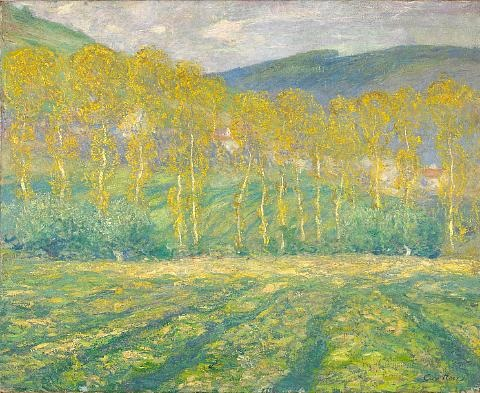 yellow trees giverny by guy rose
