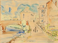 views of a city (+ 2 others; 3 works, various sizes) by karel arkema