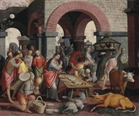 christ cleansing the temple by pieter aertsen