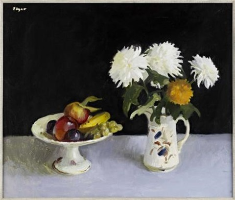 still life of fruit and flowers by norman edgar