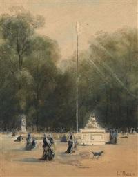 le jet d'eau du jardin des tuileries by louis tesson