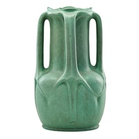large four-handled vase by teco