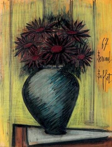 fleurs dans une potiche by bernard buffet