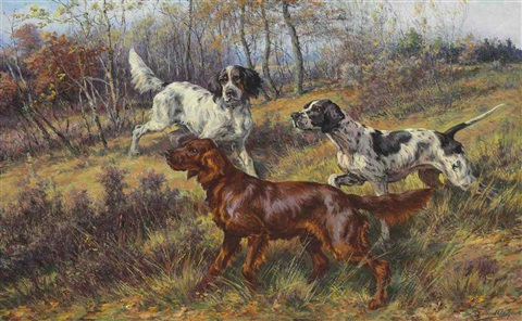 at the hunt by edmund henry osthaus