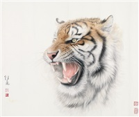 老虎 by liu jibiao