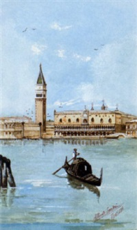 the campanile and the doges palace, venice by alberto sandri