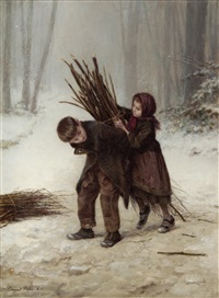 the young faggot gatherers by charles edouard frère