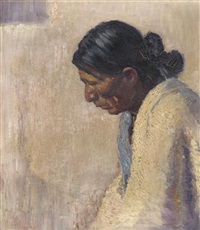 jose in his white blanket by wood w. woolsey