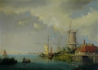 dutch waterway by a. de groote
