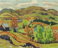 quebec in autumn by randolph stanley hewton