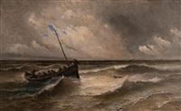 le sauvetage en mer pendant la tempête by alfred godchaux