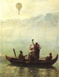 un ballon sur la lagune by andré hennebicq