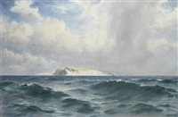a view thought to be of the island of sark by james h.c. millar