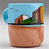 mexican village cup #3 by ken price