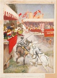 original illustration from stories of king arthur by arthur rackham
