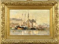 bateaux à quai by frans van damme