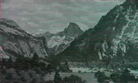 majestic mountain scene by garnet w. jex