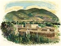 taos landscape by joseph amadeus fleck