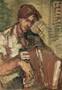 accordion player by aharon avni