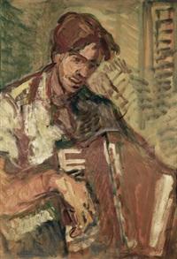 accordion player by aharon avni