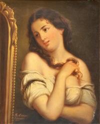portrait de jeune femme by josef cornelius correns