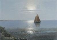 seestück mit segelboot by alexander reich-staffelstein