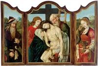 die kreuzabnahme - der heilige eligius - maria magdalena (triptych) by flemish school-brussels (16)