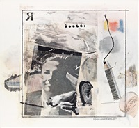 dwan gallery poster by robert rauschenberg