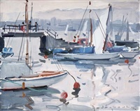 les bateaux au port by paul jean anderbouhr