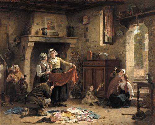 le marchand detoffes by pierre jean edmond castan